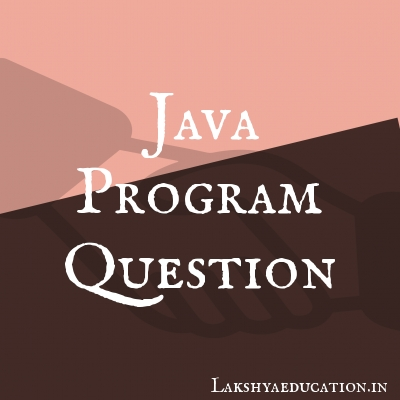 java program Questions
