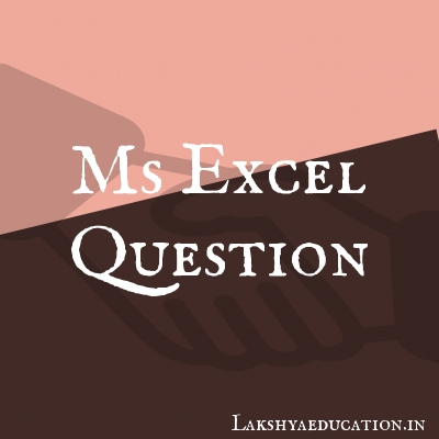 ms excel Questions